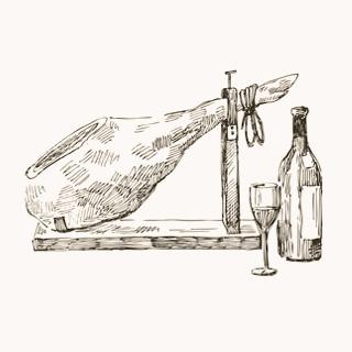 L'art de la coupe d'un jambon patanegra de bellota