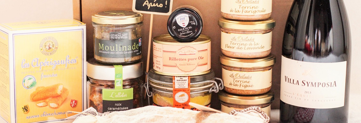Wine appetizers gourmet box