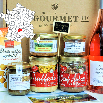 French Gourmet food gift basket Auvergne Cantal