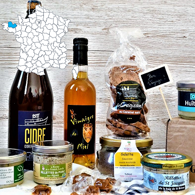 Brittany Food and Wine gourmet gift Box