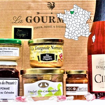 French Gourmet food gift box Normandy