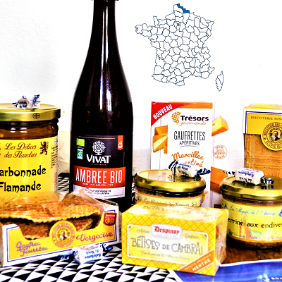 North of France Food and Wine gourmet gift Box