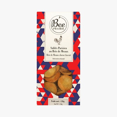 Paris craft biscuits brie de meaux cheese