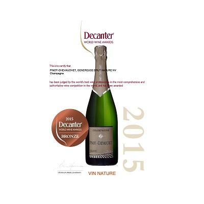 Pinot Chevauchet Champagne Brut Nature Cuvee La Genereuse