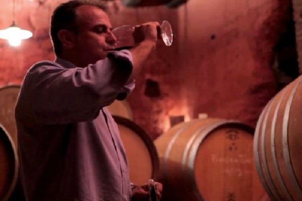 vin Tramp 2014 can Grau Vell par Jordi Castellvi dans sa cave