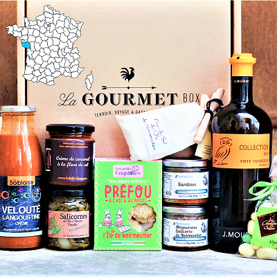 French Gourmet food gift basket Vendee