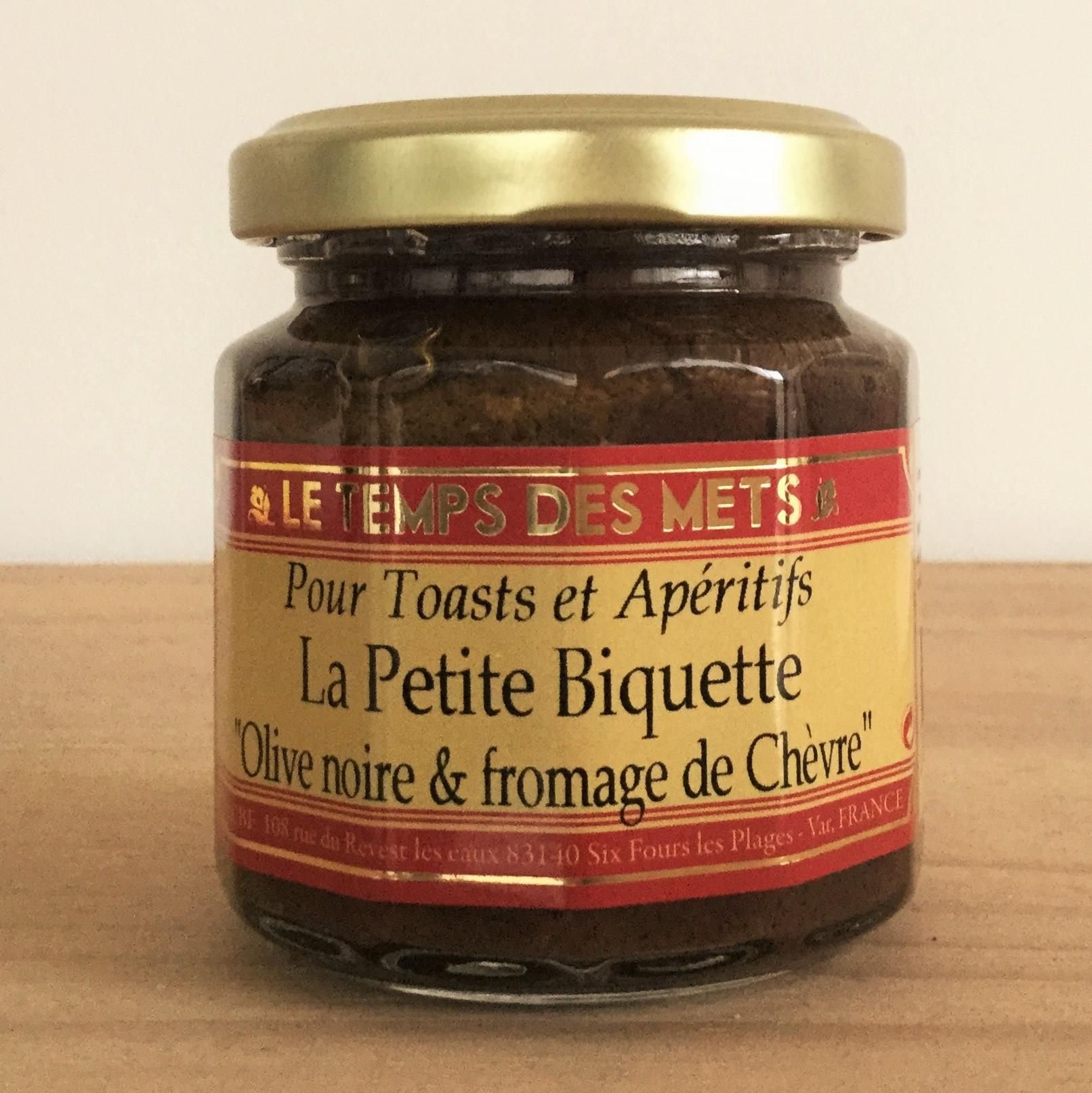 Petite biquette fromage chèvre olives