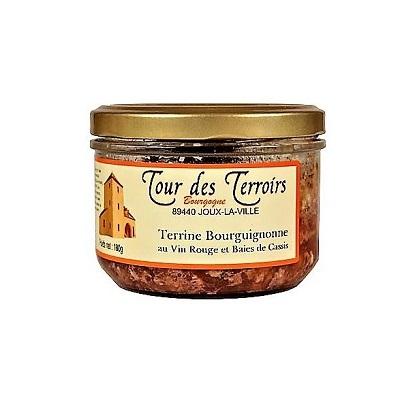 f4b1e3e9be40b Terrine de campagne artisanale au vin rouge et aux baies de cassis de  Bourgogne (180 g)